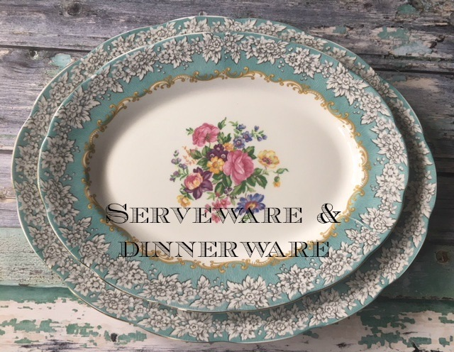 English Vintage China Serveware and Dinnerware