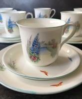 Elegant Shelley English Bone China Tea Set for Six