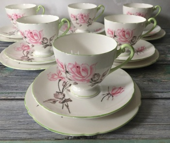 Complete Shelley Tea Set for Six
