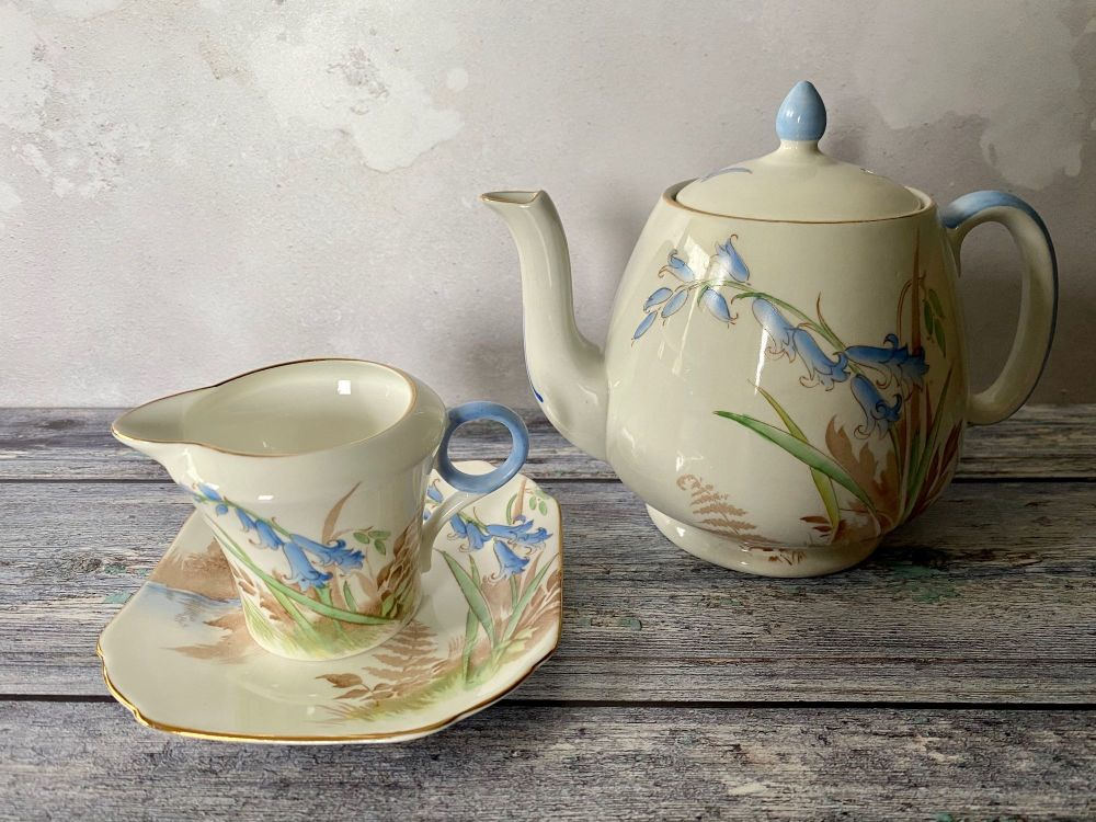 Shelley Bluebells Teapot Set