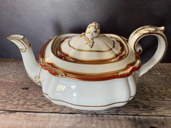 Spode Chancellor Crimson 6 - 8 Cup Teapot