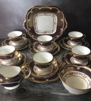Aynsley Bone China Tea Set for Six