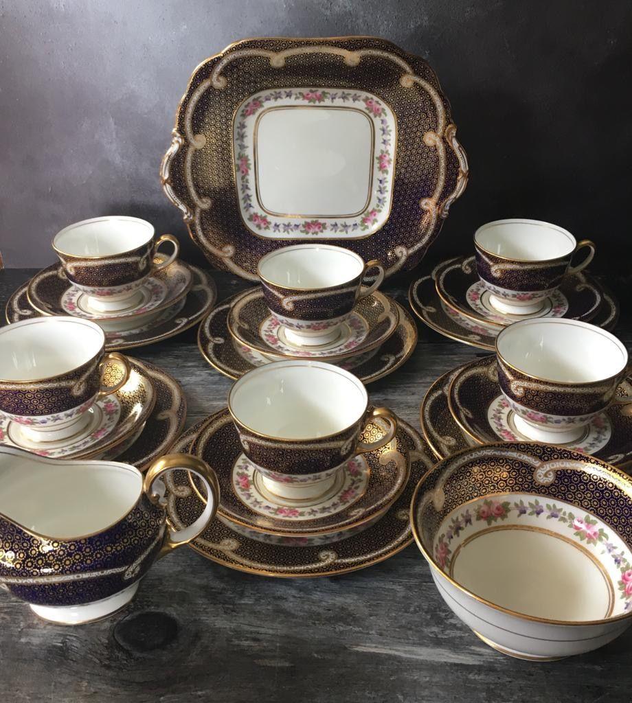 Aynsley Bone China Tea Set for Six
