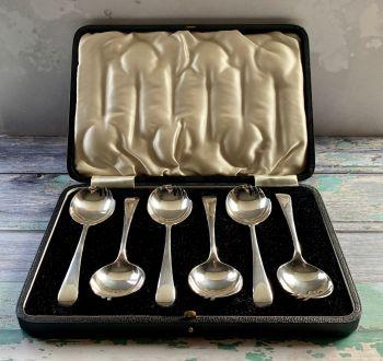 Rare set of Six Silver Plated Sporks, with original box
