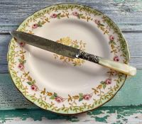 Victorian Mother of Pearl & Silver Plated Cake Knife