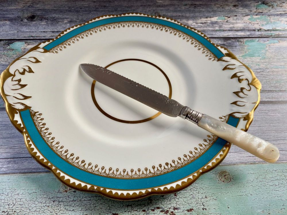 Mother of Pearl & Silver Plated Cake Knife