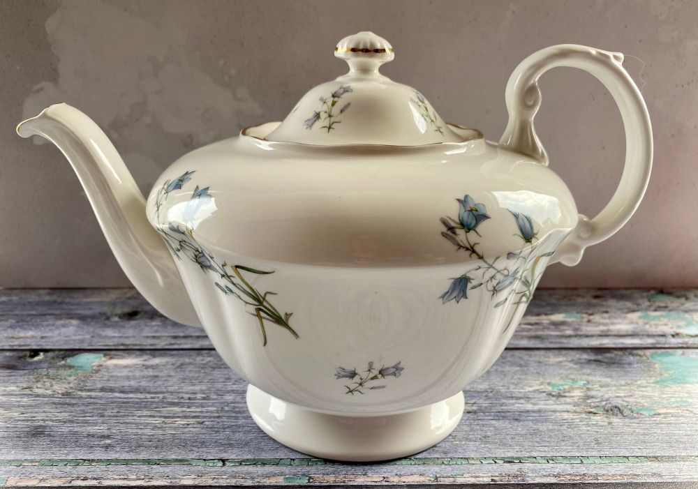Large Harebell Bone China Teapot