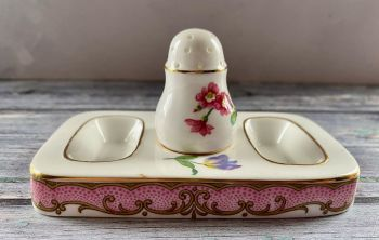 Pretty Bone China Cruet (Salt & Pepper) by New Chelsea Porcelain Co