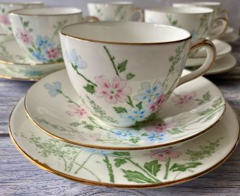 Crown Staffordshire Bone China Tea Set for Six