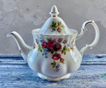 "Royal Albert ""Moss Rose"" 3 Cup Teapot"