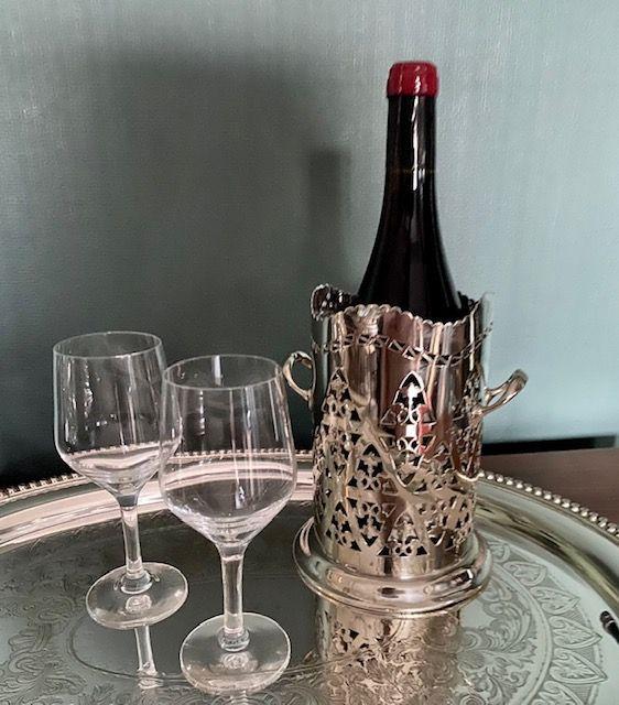 Edwardian Silver Plated Bottle Holder