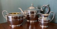 Three Piece Silver Plated Teapot Set, James Dixon & Sons of Sheffield