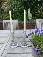 Pair of Elegant Silver Plated Candlesticks