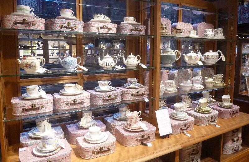 The Vintage Teapot display in Liberty of London
