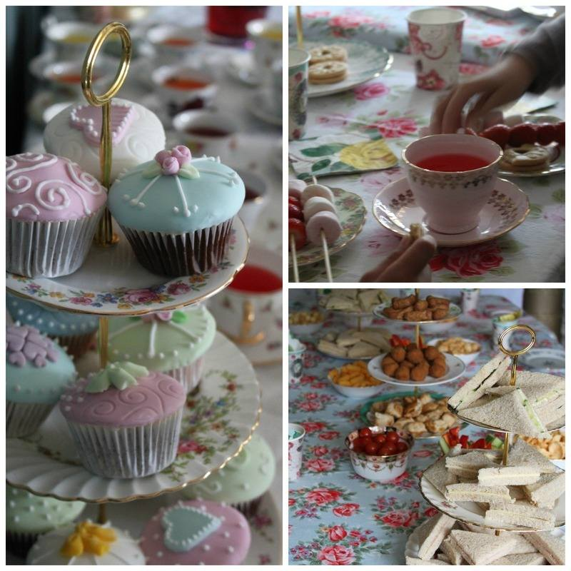 kids vintage tea party