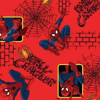 Marvel Comic Fabric - Spiderman Wall Crawler - 100% Cotton