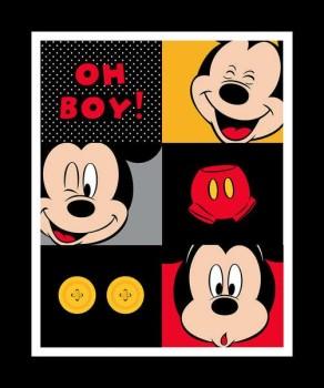 Disney Fabric - Mickey Mouse - Oh Boy Panel - 100% Cotton