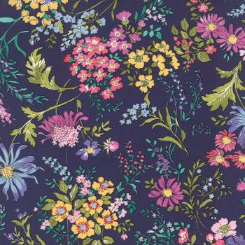 Moda Fabric - Regent Street - English Garden - Navy - Cotton Lawn