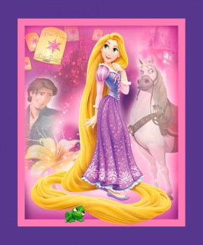 Disney Fabric - Rapunzel Panel - 100% Cotton