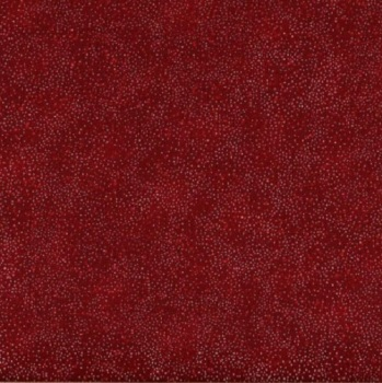 Hoffman Fabric - Brilliant Blenders - Metallic Spots - Scarlet/Silver - 100% Cotton