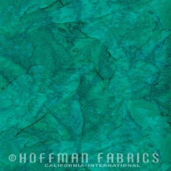 Hoffman Batik Fabric - Watercolour 1895 - Stone Green - 100% Cotton