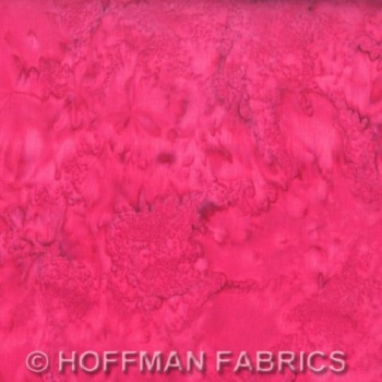 Hoffman Batik Fabric - Watercolour 1895 - Zinnia Pink - 100% Cotton