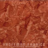 Hoffman Batik Fabric - Watercolour 1895 - Adobe - 100% Cotton