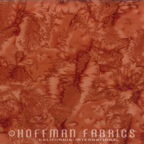 Hoffman Batik Fabric - Watercolour 1895 - Adobe - 100% Cotton