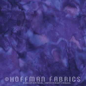 Hoffman Batik Fabric - Watercolour 1895 - Agate Purple - 100% Cotton