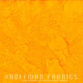 Hoffman Batik Fabric - Watercolour 1895 - Buttercup - 100% Cotton