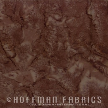 Hoffman Batik Fabric - Watercolour 1895 - Chestnut - 100% Cotton