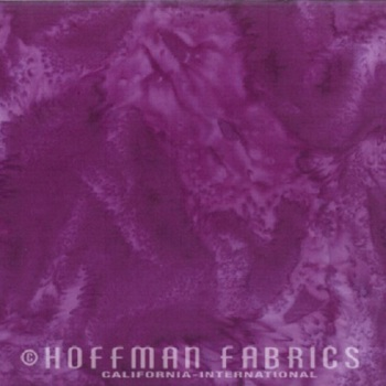 Hoffman Batik Fabric - Watercolour 1895 - Purple - 100% Cotton