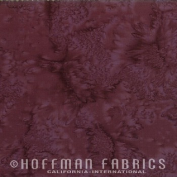 Hoffman Batik Fabric - Watercolour 1895 - Rum Raisin - 100% Cotton