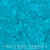 Hoffman Batik Fabric - Watercolour 1895 - Seasalt - 100% Cotton