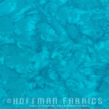 Hoffman Batik Fabric - Watercolour 1895 - Seasalt - 100% Cotton