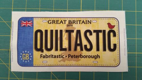 Row by Row - License Plate - Quiltastic