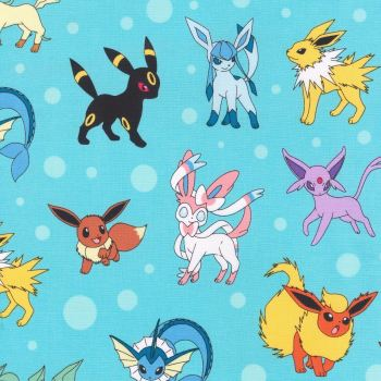 Pokemon Aqua Fabric - 100% Cotton