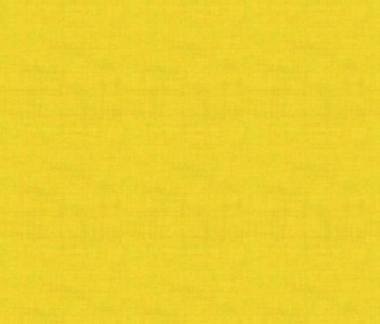 Makower Fabric - Linen Texture Look - Sunflower Yellow - 100% Cotton