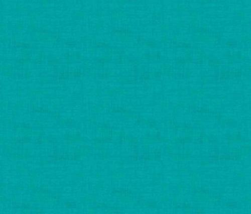 Makower Fabric - Linen Texture - Turquoise - 100% Cotton