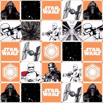 Star Wars The Force Awakens Fabric - Grid - Orange - 100% Cotton