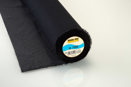 Vilene G700 Black - Medium, woven cotton, iron on fusible interfacing - met