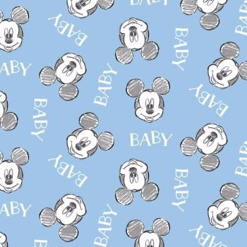 Disney Fabric  - Mickey Mouse - Oh Boy Nursery Toss - 100% Cotton
