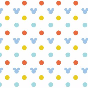 Disney Fabric  - Mickey Mouse - Oh Boy Ears - White - 100% Cotton