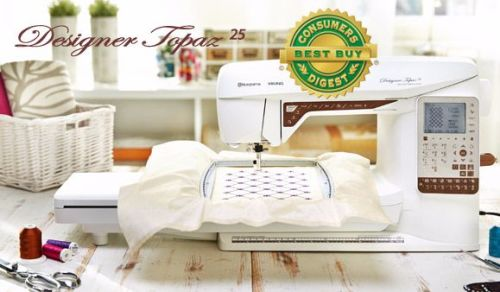 **SALE Husqvarna Viking - Designer Topaz 25 - Electronic Embroidery Machine