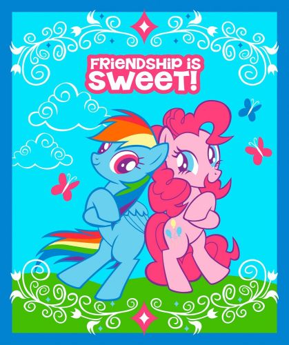 My Little Pony Fabric - Friendship is Sweet - Panel - 100% Cotton