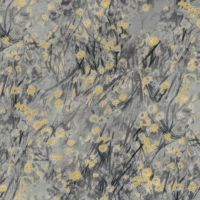 Timeless Treasures Fabric - Zephyr - Metallic Abstract Ditsy Floral - Grey - 100% Cotton