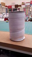 White Flat Woven Elastic - 25mm