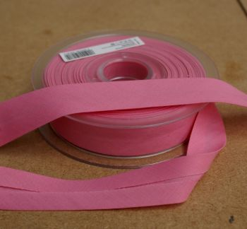 Bias Binding 25mm - Pink 704 - Polycotton - Metre