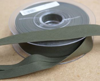 Bias Binding 25mm - Olive Green 571 - Polycotton - Metre