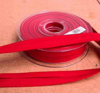 Bias Binding 25mm - Red 725 - Polycotton - Metre